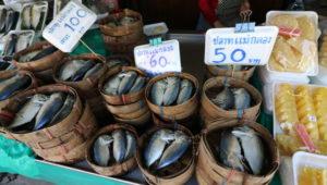 オンヌット生鮮市場に売られている魚